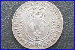 Ecu louis XIV aux palmes 1695 D