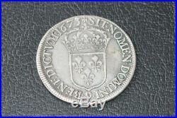 Ecu louis XIV du parlement 1673 Rennes