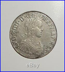 Ecu royal Louis XIV 1652 O Riom 2728 exemplaires