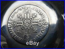 Exceptionnel, Rarissime gros TASTEVIN en argent massif, Pièce demi-écu, LOUIS XIV