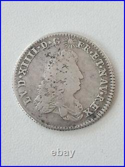 France Louis XIIII Argent 1/8 ecu de Flandre 1686 LL Lille