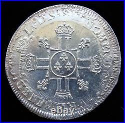 France Louis XIV ECU ND (1704-09) UNC
