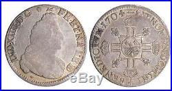France Louis XIV ½ écu de Béarn aux 8 L, 2ème type 1704 (Pau)