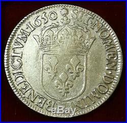 France, Louis XIV ou XIIII, 1/2 Écu à la méche Longue, 1650 N Montpellier