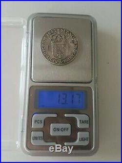 France Rare 1/2 ecu Louis XIV à la mèche courte 1643 A Rose Argent Silver