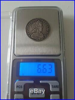 France Rare 1/4 ecu Louis XIV à la mèche Longue 1651 Aix Argent Silver TTB+ SUP