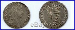 Gertbrolen Louis XIV 1/12 ème d' écu buste juvénile 1662 Villeneuve Lez Avignon