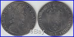 Gertbrolen Louis XIV écu à la mèche longue 1653 Bayonne