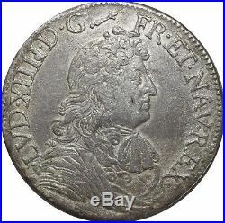 L1324 TRES RARE Ecu Louis XIV cravate 1679 I Limoges Argent Silver Faire offre