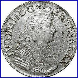 L5586 R3 Ecu Louis XIV Ecu Cravate 1678 L Bayonne Argent Faire offre