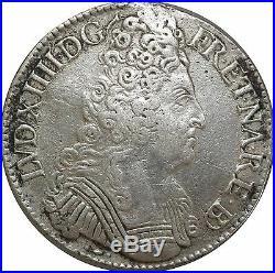 L5588 Rarissime Louis XIV Ecu du Béarn 3 couronnes 1709 Pau Argent -Faire offre