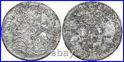 LOUIS XIV 1/2 écu à la cravate dit du Parlement 2 emission 1680 Paris G. 178