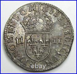 LOUIS XIV 1/4 d'écu 1644 M Toulouse QUALITE