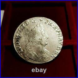 LOUIS XIV (1643 1715) Demi-écu aux insignes 1701 W, Lille. R2