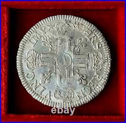 LOUIS XIV 1643 1715 Écu aux huit L, 1er type 1690 A Paris