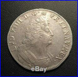 LOUIS XIV ÉCU AUX Palmes 1694 D (Lyon) GADOURY 217