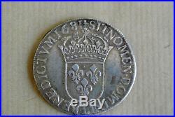 LOUIS XIV ECU CRAVATE1er type 2 éme buste très cuirassé etnon drapé bayonne 1681
