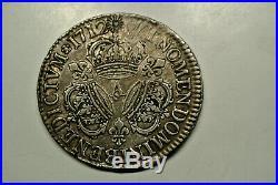 LOUIS XIV ECU TROIS COURONNES 1712 A poids 30 gr 30 exeptionnel