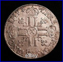 LOUIS XIV (L1643-1715) Monnaie royale, Louis XIV, Ecu aux 8 L 1er Type 1690 X