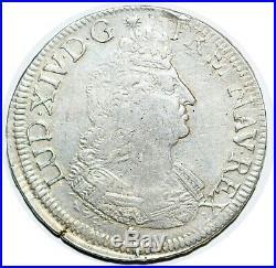 LOUIS XIV LE GRAND Écu aux palmes 1694 Besançon G. 217 VAR LUD