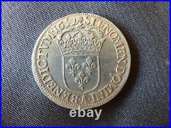 LOUIS XIV LE ROI SOLEIL Écu à la mèche longue 1652 A A VOIR