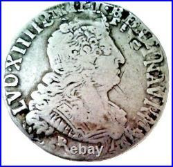 LOUIS XIV Quart d'écu 1704 Rennes
