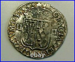 LOUIS XIV RARE 1/4 ECU NAVARRE 1649 O TTB + a SUP état RARE frappe médaille