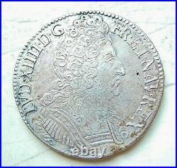 LOUIS XIV écu aux 3 couronnes 1709 & Aix-en-Provence