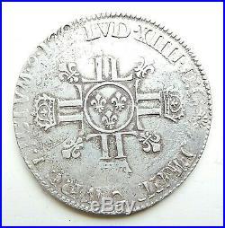 LOUIS XIV écu aux 8 L 1705 G