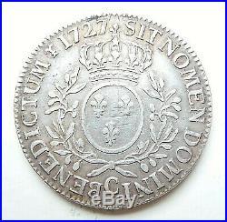 LOUIS XV écu aux lauriers 1727 C