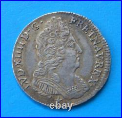 Louis XIV, 1/10ème dixième d'écu aux trois couronnes 1713 N Montpellier