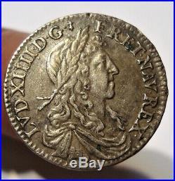 Louis XIV 1/12 D'ecu Au Buste Juvenile 1660 A Paris. Tres Bel Etat