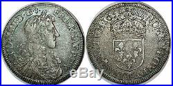Louis XIV 1/2 Demi-écu au BUSTE JUVENILE 1659 T NANTES RARE