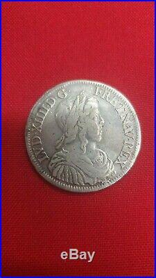 Louis XIV 1/2 Ecu A La Meche Longue 1649 A Paris Ref47996