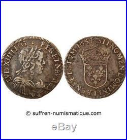 Louis XIV 1/2 Ecu Argent A La Meche Longue 1654 I Limoges R4