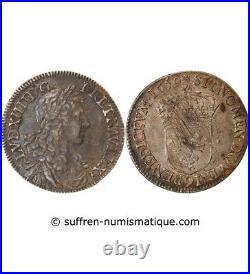 Louis XIV 1/2 Ecu Au Buste Juvenile 1659 9 Rennes