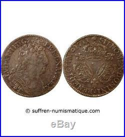 Louis XIV 1/2 Ecu Aux 3 Couronnes 1711 K Bordeaux