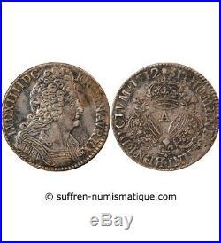Louis XIV 1/2 Ecu Aux 3 Couronnes 1712 A Paris