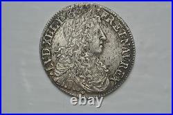Louis XIV 1/2 Ecu Juvenile 2 Type Portrait Nantes