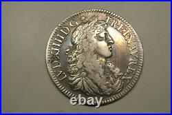 Louis XIV 1/2 Ecu Juvenile 3 Eme Type Chevelure Abondante 1668 A Ttb