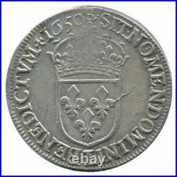 Louis XIV 1/2 Ecu à la mèche longue 1650