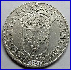 Louis XIV 1/2 Ecu à la mèche longue 1652 N Montpellier