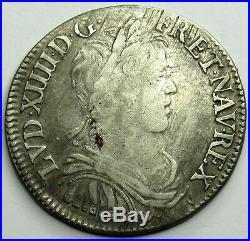 - Louis XIV 1/2 Ecu à la mèche longue 1655 Y Bourges