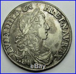 - Louis XIV 1/2 Ecu au buste juvénile 1662 B Rouen
