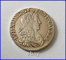 Louis XIV 1/2 Ecu au buste juvénile, 1er poinçon 1662 B