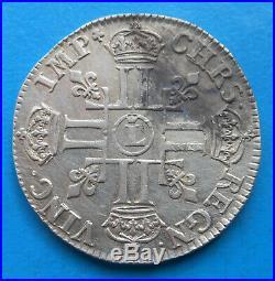 Louis XIV 1/2 demi écu aux 8 huit L 1690 Lille, FLAN NEUF