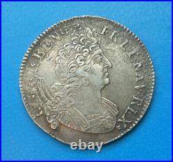 Louis XIV, 1/2 demi écu aux insignes 1702 B Rouen