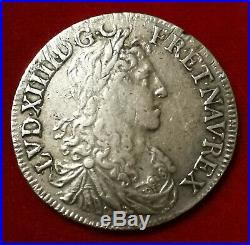 Louis XIV 1/2 écu aux Buste Juvénile 1er Poinçon 1662 9 RENNES TTB