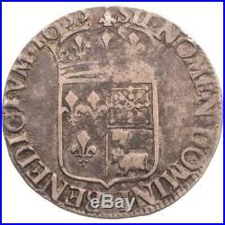 Louis XIV 1/2 écu de Béarn à la mèche longue 1655 (Pau)