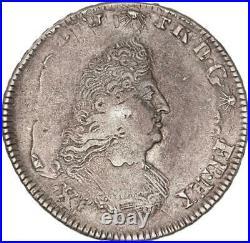 Louis XIV 1/2 écu de Flandre aux Palmes 1695 W (Lille)
